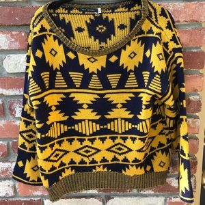 Vintage Retro Pattern Sweater